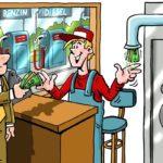 Tankstellen-Rohrpost